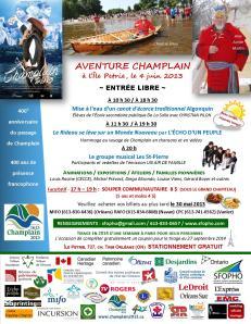 Île Petrie AVENTURE CHAMPLAIN affiche Francophone