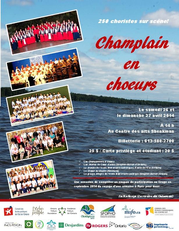 Champlain en chouers affiche