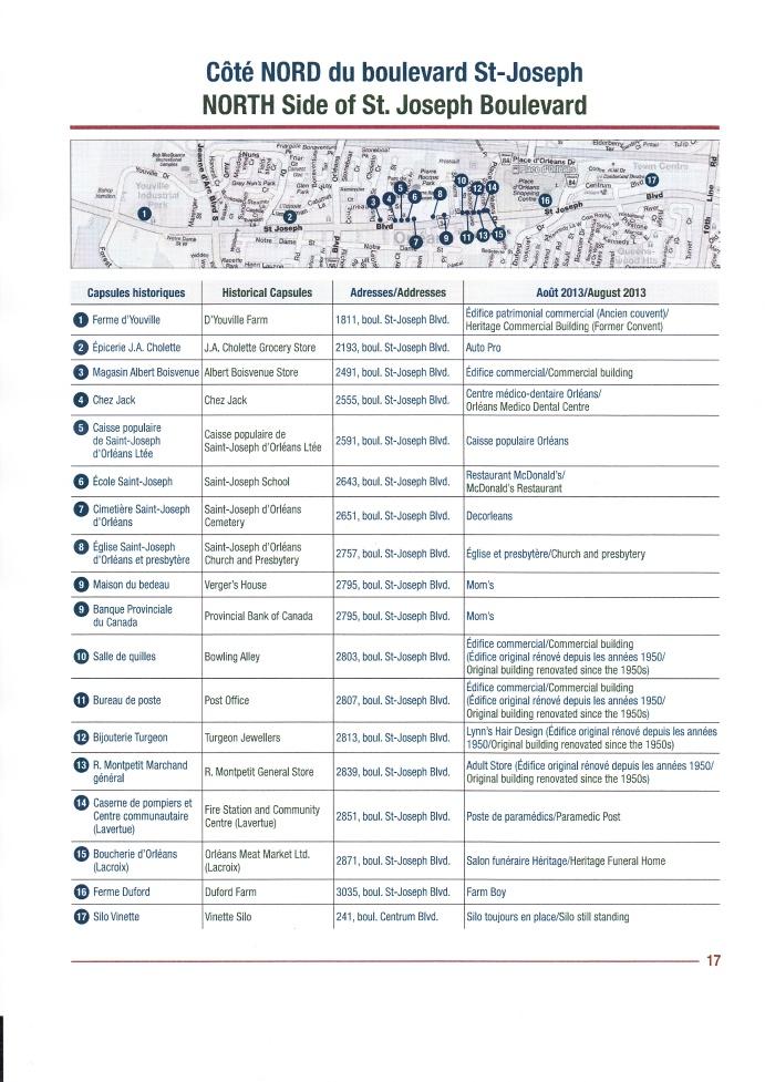 Carte des plaques coté nord de ST-Joseph