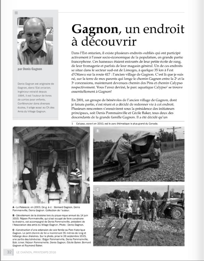 Gagnon Le Chaînon 1