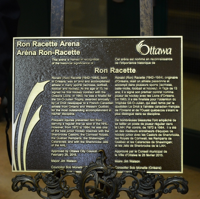 RON Racette Plaque